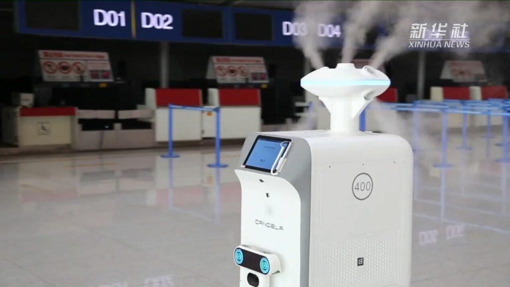เหอเฝยใช้ 'หุ่นยนต์ฆ่าเชื้อ' สกัดโควิด-19 ในสนามบิน | XinhuaThai